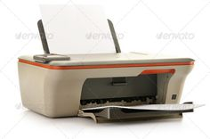 Buy Computer printer isolated on white background by monticelllo on PhotoDune. Computer printer isolated on white background Wireless Printer, Buy Computer, Office Supplies, Stock Photos