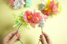 Flower Headbands For The Younger Ladies (Hint:They're DIY!)