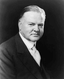 Herbert Clark Hoover (August 10, 1874 – October 20, 1964) was the 31st President of the United States (1929–1933). Hoover, born to a Quaker family, was a professional mining engineer. He achieved American and international prominence in humanitarian relief efforts in war-time Belgium and served as head of the U.S. Food Administration during World War I