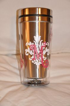 Travel coffee mug personalized custom made by MakeitMyDesign, $18.00