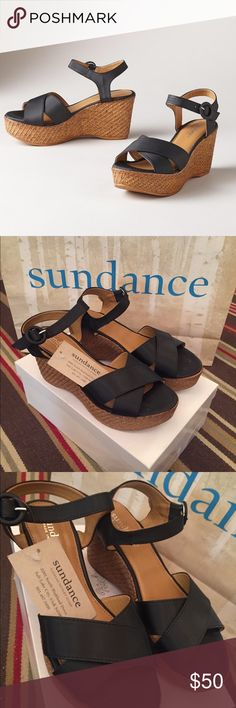 Juliet Sundance catalog sandals Satin smooth straps with a basket weave wedge for the perfect combination of laid back elegance. Leather lined satin. Made in Italy Sundance Shoes Wedges