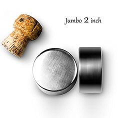 Wine Ice Cubes  Yukiss Set of 2 with Pouch 2 Inches Jumbo Stainless Steel Reusable Whiskey Stones Best Whiskey Chiller Whisky Chilling Rocks Soapstone and Sipping Stones -- For more information, visit image link.