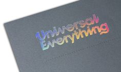 Creative Typography, Print, Lettering, Ffffound, and Portfolio image ideas & inspiration on Designspiration Holographic Print, Holographic Foil, Branding Design, Logo Design, Graphic Design, Foil Business Cards, Printed Portfolio, Catalog Design, Print Packaging