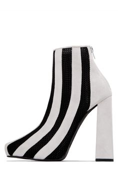 Jeffrey Campbell Mesh //  BETEL in White Suede Black Mesh