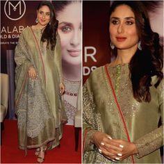"6,608 Likes, 15 Comments - A Fashionista's Diary (@afashionistasdiaries) on Instagram: ""Kareena Kapoor Khan Outfit - @anamikakhanna.in Jewelry - @malabargoldanddiamonds Sandals -…"""