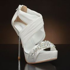 DAVID TUTERA BOUQUET Wedding Shoes and BOUQUET Dyeable Bridal Shoes WHITE, IVORY: