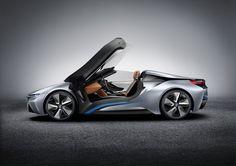 BMW i8 Spyder ::: The doors open forward, pivoting around the A pillar axis