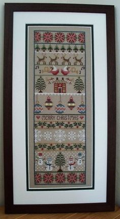 INSTANT DOWNLOAD Merry Christmas Cross Stitch Sampler PDF Chart by littledovesamplers on Etsy https://www.etsy.com/listing/108594419/instant-download-merry-christmas-cross