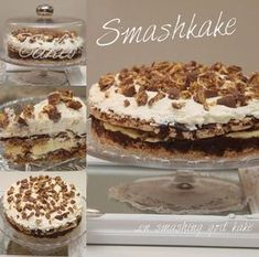 My Little Kitchen: Smash Cake Pudding Desserts, No Bake Desserts, Candy Recipes, Dessert Recipes, My Favorite Food, Favorite Recipes, Banana Split Dessert, Norwegian Food, Sweets Cake