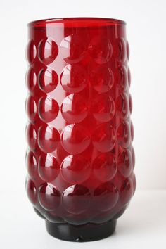 Anchor Hocking Royal Ruby Red Depression Glass Vase