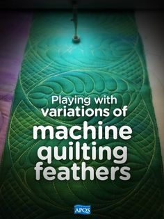 Feathers are a classic machine quilting motif that lend elegance and beauty to any quilt top. However, they can be challenging to the new machine quilter. Of course, the key to mastering feathers is practice but it also helps to find the feather style that you like best...