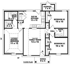 Small, Traditional House Plans   Home Design SU B1066 62 T # 10061