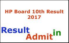HP Board 10th Result 2017