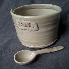 salt cellar & spoon by DarlinCory on Etsy