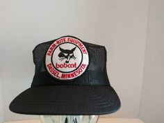 44a8bde762e Details about Vintage Bobcat Farm Rite Equipment All Mesh SnapBack Hat  Louisville Made In USA