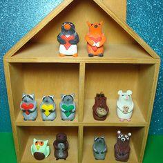 Animal Sculptures by Hollyrocks, via Flickr