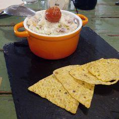 Ensaladilla con nachos en el menú degustación del restaurante @PetitComite_Zaragoza (Hernando de Aragon 1)
