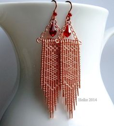 Twined Copper Earrings II on copperwirejewelers.ning.com