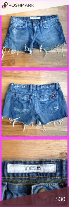 Super Cute Distressed Shorts by Joe's Jeans Perfect condition, pet and smoke free home. Obviously these were bought distressed hehe. No Ⓜ️ or trades, please!(: Equivalent to a size 6. Joe's Jeans Shorts