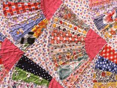 5 Common Quilting Errors You Don't Have to Make: Mixing Prewashed Fabrics with Unwashed Fabrics Take some time to learn how to make the necessary skills mesh together, and your quilts will be as planned, every time. Easy Quilt Patterns, Quilting Ideas, Knitting Basics, Vintage Fans, Vintage Stuff, Easy Quilts, Mini Quilts, Quilting For Beginners, Down South
