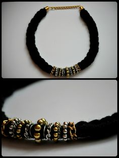braided black statement necklace