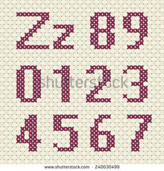 cross stitch numbers - Google Search