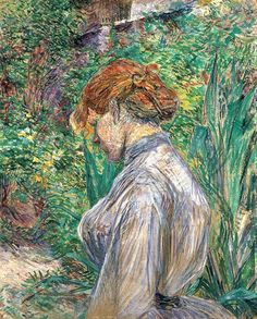 Red-Headed Woman in the Garden of M. Foret, Summer 1887 / Henri de Toulouse-Lautrec