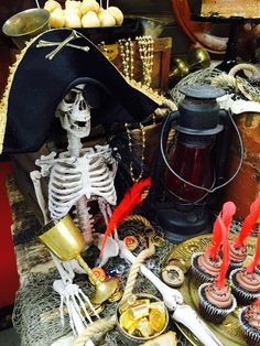 Amazing decorations at a pirate birthday party! See more party ideas at CatchMyParty.com!