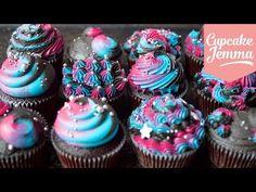 How To Make a Unicorn Cake – Bakery Secret! Space Cupcakes, Galaxy Cupcakes, Galaxy Cake, Rolo Cupcakes, Fancy Cupcakes, Birthday Cupcakes, Sweet Cupcakes, How To Make A Unicorn Cake