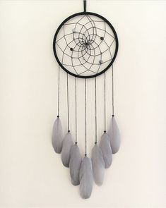 Items similar to Black & Grey Dream Catcher on Etsy Excited to share this item from my shop: 7 Black & Grey Dream Catcher Dream Catcher Patterns, Dream Catcher Mandala, Dream Catcher Decor, Black Dream Catcher, Dream Catcher Mobile, Large Dream Catcher, Dream Catcher Boho, Dream Catcher Bedroom, Boho Baby Shower