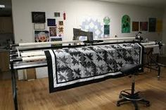 This is the long arm machine used to machine quilt..