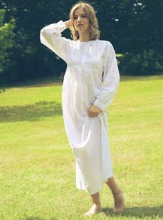 Lunn Antiques Polo White Cotton Victorian Longsleeve Nightdress M & Large BNWT | eBay