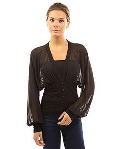 PattyBoutik Women's Chiffon Long Sleeve Fitted Waist Pullover Blouse (Black M) PattyBoutik http://www.amazon.com/dp/B00DLUISTQ/ref=cm_sw_r_pi_dp_1pPSvb0E4DJ7X