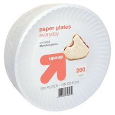 """up & up Paper Plates Everyday 9"""" 200 ct. Great for Crafts, Snacks, Science and Math! Etc."""