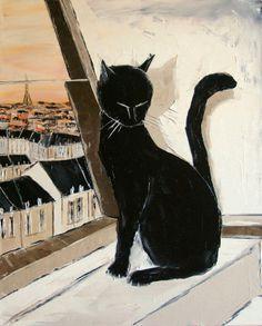 """Atelier de Jiel - """"BLACK the black cat is the Paris' Master"""""""