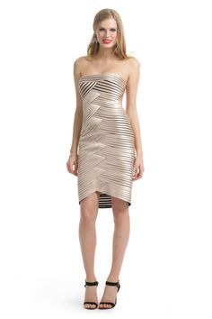 reception ideas... Rent Champagne Hypnotizer Dress by BCBGMAXAZRIA for $50 – $60 only at Rent the Runway.