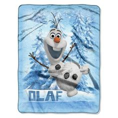 Disney Frozen Olaf Silk Touch Plush Throw