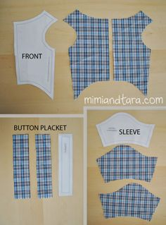 Shirt patterns cut
