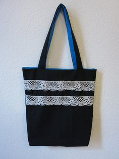 Tote Bag with Lace