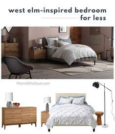 West Elm-Inspired Bedroom for Less MomsWhoSave.com #frugal #homedecor #westelm