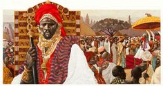 Sunni Ali Beer King of Songhay (circa 1442-1492), built the largest most powerful empire in West Africa during his 28-year reign. With a remarkable army,he won many battles, conquered many lands, seized trade routes and took villages to build the Songhay empire into a major center of commerce, culture and Moslem scholarship.