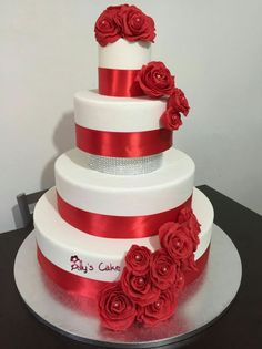 Cake torta red roses rose rosse wedding matrimonio sparkle