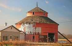The Round Barn in Saginaw, MO.  Favorite country cruise route.  Sadly, this was before it started to collapse.
