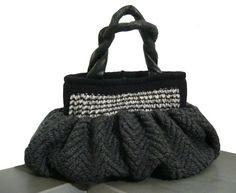 Borsa in lana  borsa grande  lana alpaca grigio  di BAGSaraGui