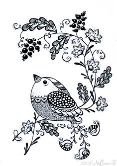 Pin af tasnia iffat p drawing pinterest for Un petit oiseau
