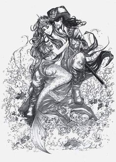 Mermaid and pirate