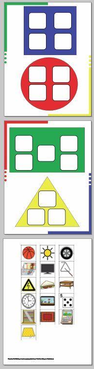 Aprendiendo las formas con pictogramas