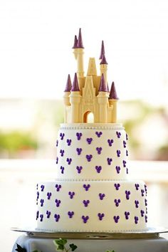 Disney Wedding Cake - could you imagine? Haha