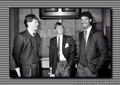 Johan Cruyff ,Marco Van Basten y Frank Rijaard.