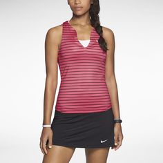 Nike Stripe Pure Women's Tennis Tank Top. Nike Store